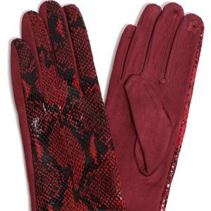 HOST PICK  Winter Snake Print Smart Touch Gloves